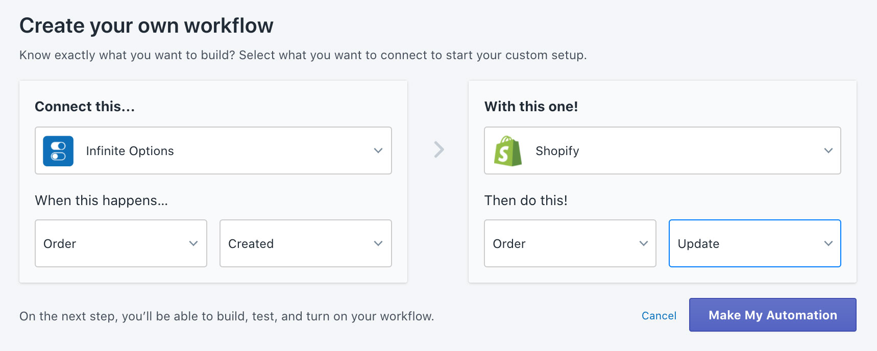Create your own workflow